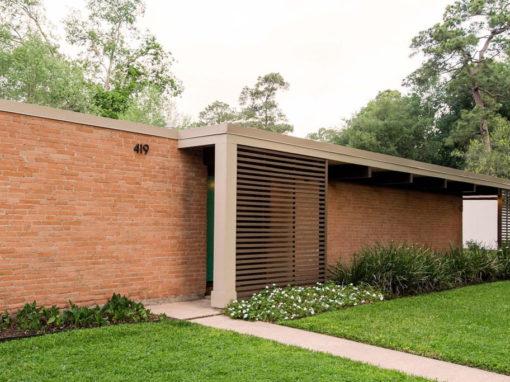 Houston modern homes houston modern mid century modern for Contemporary home builders houston